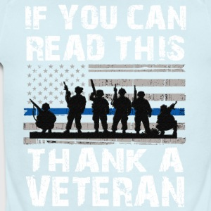 If you can read this thank a Veteran - Short Sleeve Baby Bodysuit