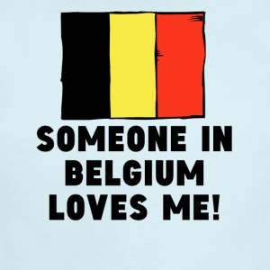 Someone In Belgium Loves Me! - Short Sleeve Baby Bodysuit
