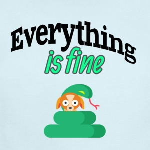 Everything is fine - Short Sleeve Baby Bodysuit