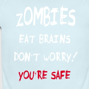 zombies eat brains - Short Sleeve Baby Bodysuit