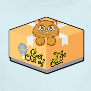 Get Out of The Box Meow T-shirt - Short Sleeve Baby Bodysuit
