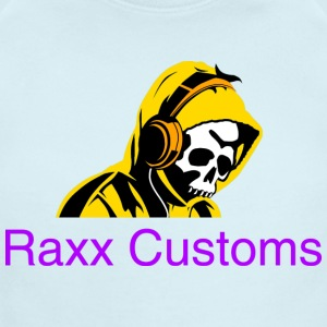SKULL RAXX CUSTOMS logo yellow - Short Sleeve Baby Bodysuit