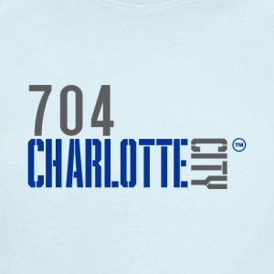 704 charlotte city - Short Sleeve Baby Bodysuit