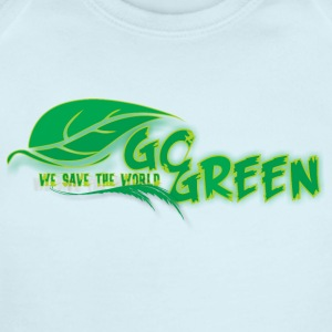 go green - Short Sleeve Baby Bodysuit