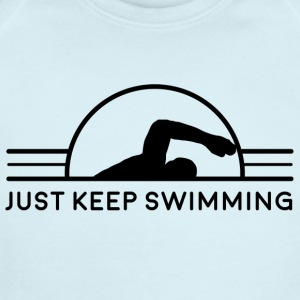 Just Keep Swimming - Short Sleeve Baby Bodysuit
