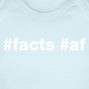 Hashtag Facts Af (White Letters) - Short Sleeve Baby Bodysuit