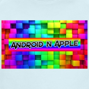 android and apple helper design - Short Sleeve Baby Bodysuit