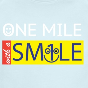 One Mile With a Smile - Short Sleeve Baby Bodysuit