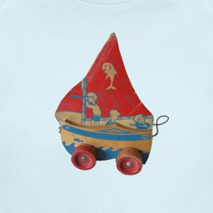SAIL BOAT PULL TOY - Short Sleeve Baby Bodysuit