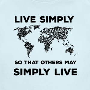 live simply - Short Sleeve Baby Bodysuit