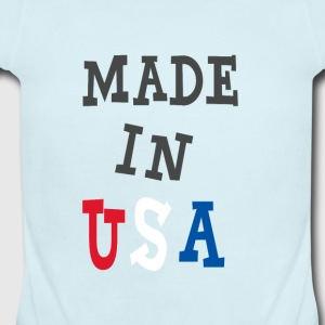 Made in USA - Short Sleeve Baby Bodysuit