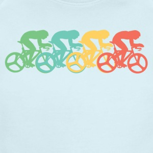 Retro Cycling Pop Art - Short Sleeve Baby Bodysuit