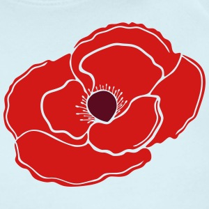 Remembrance Poppy Flower Bud - Short Sleeve Baby Bodysuit