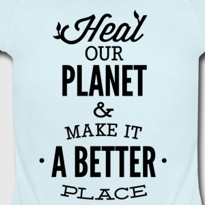 HEAL_OUR_PLANET-01 - Short Sleeve Baby Bodysuit