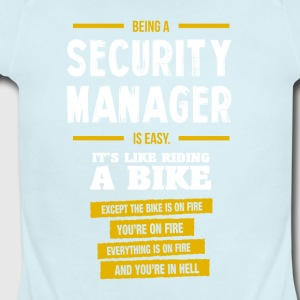 security manager - Short Sleeve Baby Bodysuit
