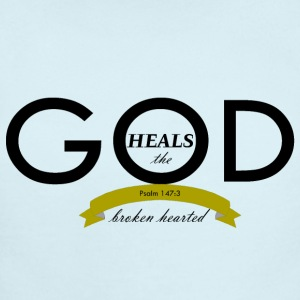 God Heals the Broken Hearted - Short Sleeve Baby Bodysuit