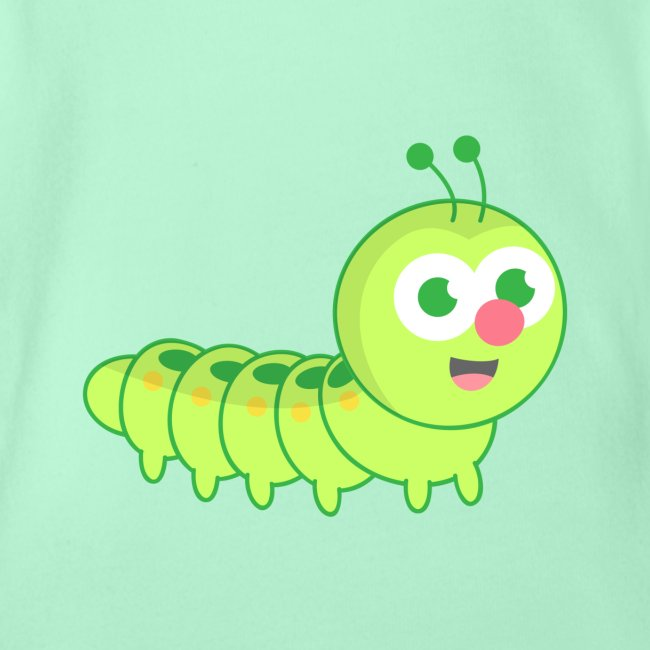 Rusty Doodle Cute Caterpillar With Red Nose Organic Short
