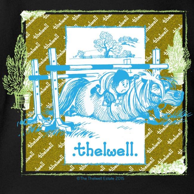 PonyFall blue yellow Thelwell Cartoon