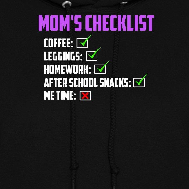 Mom Checklist- Momlife