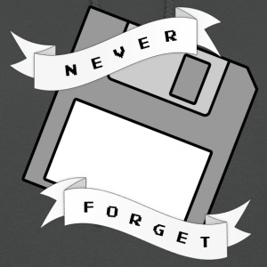 Floppy Disc Never Forget T Shirt - Women's Hoodie