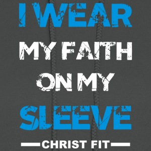 I wear my faith blue n white - Women's Hoodie