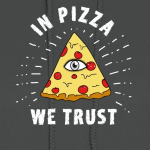 pizza illuminati Eye Pyramide Humor fun fastfood - Women's Hoodie