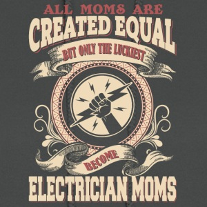 The Luckiest Become Electrician Moms - Women's Hoodie