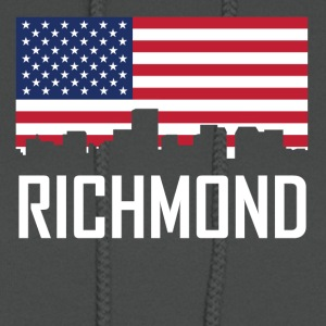 Richmond Virginia Skyline American Flag - Women's Hoodie