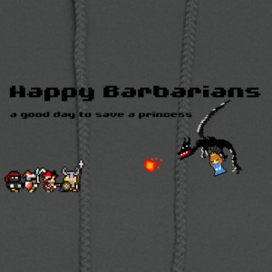 Happy Barbarians - a good day to save a princess - Women's Hoodie