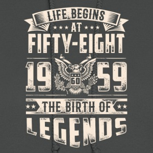 Life Begins At Fifty Eight Tshirt - Women's Hoodie