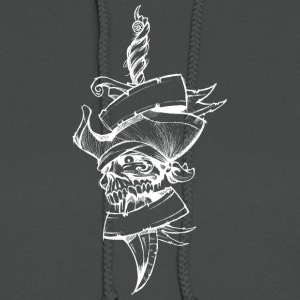 Knife_with_pirate_skull_white - Women's Hoodie