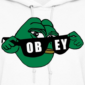 Pepe the Frog Sunglasses Obey - Women's Hoodie