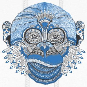 Ape monkey pattern Tattoo Style - Women's Hoodie