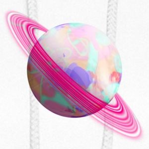 Pink ringed planet - Women's Hoodie