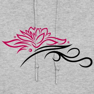 Large lotus flower with small tribal. - Women's Hoodie