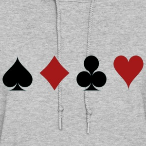 Four Card Suits Symbol - Women's Hoodie