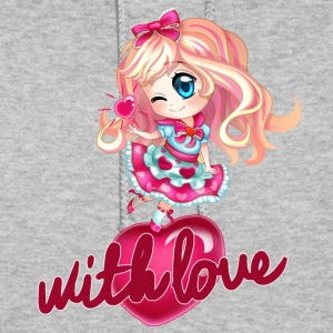 blonde chibi with heart - Women's Hoodie