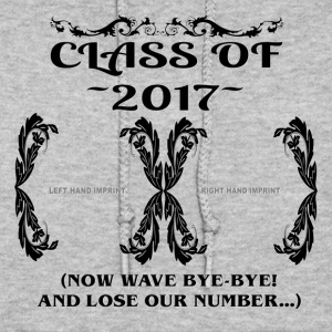 Class Of 2017 - Hand Imprint - Now Wave Bye-Bye - Women's Hoodie