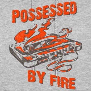 Possessed by fire - old school tape t-shirt design - Women's Hoodie