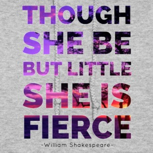 She is Fierce - Shakespeare - purple - Women's Hoodie