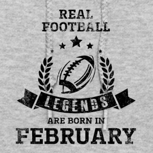 REAL FOOTBALL LEGENDS ARE BORN IN FEBRUARY - Women's Hoodie