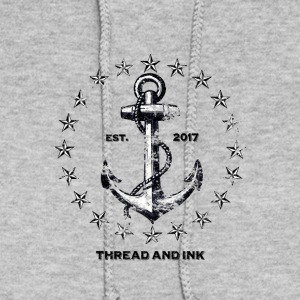 Vintage Nautical Anchor and Stars. Traditional tee - Women's Hoodie