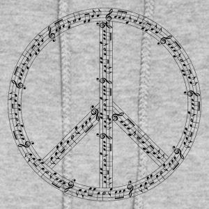 music peace sign - Women's Hoodie