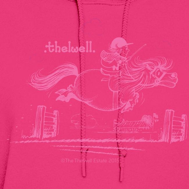 PonyJump Pink Thelwell Cartoon