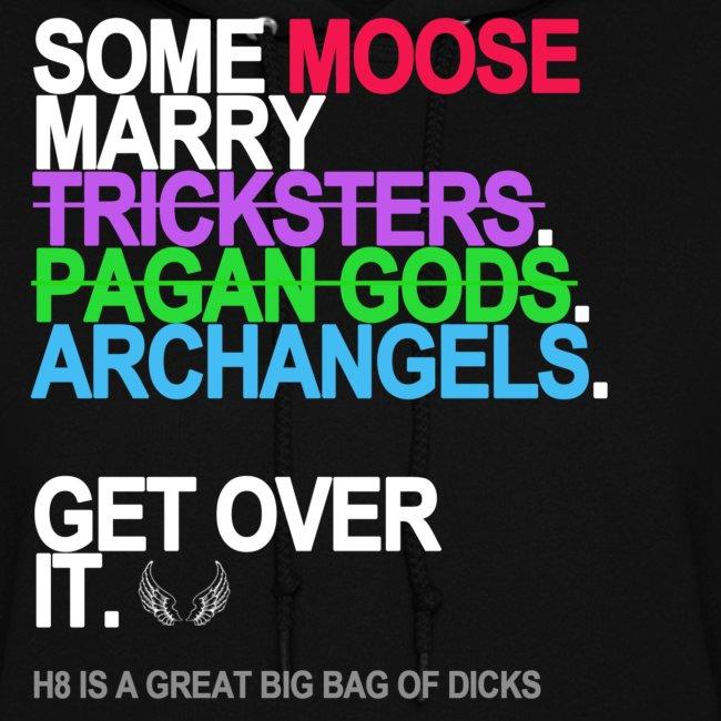 some moose marry gods black shirt