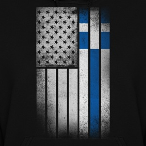 Greek American Flag - Half Greek Half American - Women's Hoodie