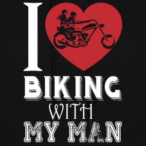I Love Biking With My Man T Shirt - Women's Hoodie