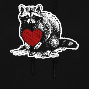 Raccoon Heart Shirt - Women's Hoodie
