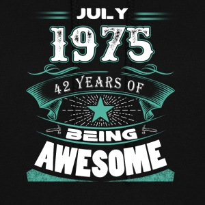 July 1975 - 42 years of being awesome - Women's Hoodie