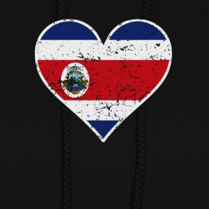 Distressed Costa Rican Flag Heart - Women's Hoodie